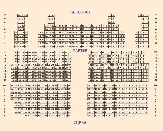 Схема зала: схема зала